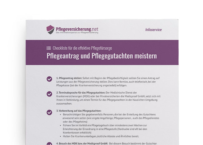 Checkliste Pflegeantrag